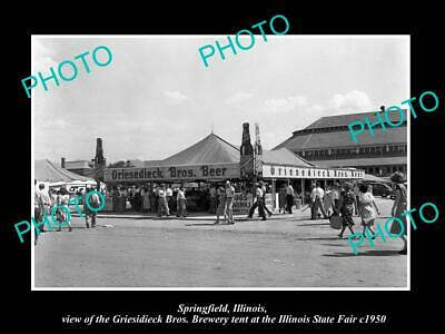 OLD 6 X 4 HISTORIC PHOTO OF SPRINGFIELD ILLINOIS, THE GRIESIDIECK BEER TENT 1950