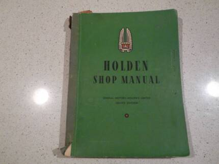 HOLDEN SHOP MANUAL 1952 For sale South Perth South Perth Area Preview