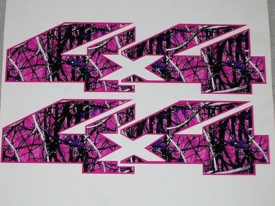 DARK Pink Girl Camo 4X4 BED SIDE Decal Decals F150 F250 F350 Ram Chevy GMC Muddy