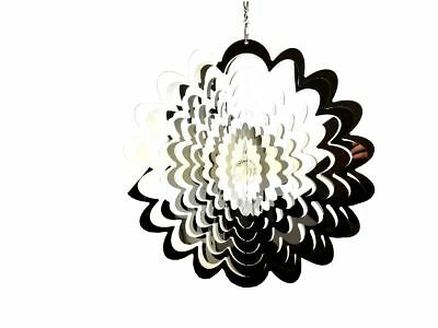 Extra Large Hanging Stainless Steel Garden Wind Spinner Sun Catcher - Flower
