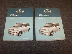2005 Scion xB Wagon Workshop Shop Service Repair Manual Book Set 4Cyl 1.5L
