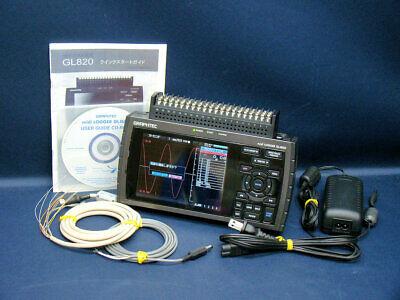 GRAPHTEC GL820 HANDY DATA LOGGER MIDI LOGGER USED