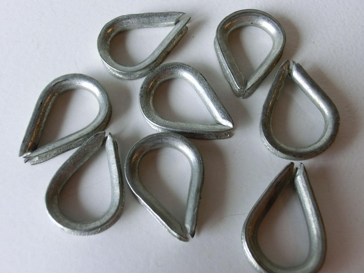 5-200 Stück KAUSCHE 4mm Kauschen für Drahtseil verzinkt Stahlseil Seilöse