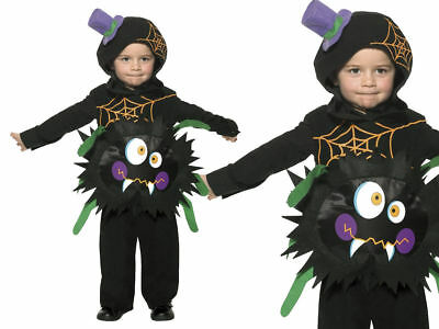 Crazy Spider Costume Toddlers Boys Girls Childrens Halloween Fancy Dress 1-4 Yea