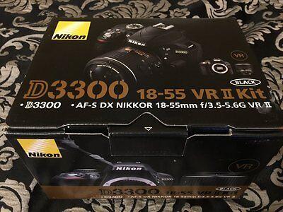 Nikon D3300 24.2 MP DSLR Camera Kit w/ AF-S DX 18-55mm VR II Lens - New (sealed)