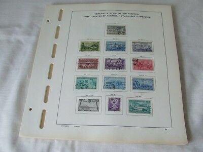 USA 1951-1969 USED COLLECTION ON SCHAUBEK ILLUSTRATED STAMP ALBUM LEAVES