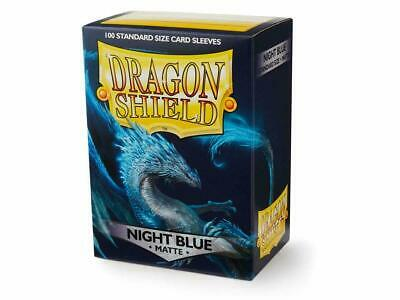 DRAGON SHIELD NIGHT BLUE MATTE STANDARD SIZE 100 Card Sleeves Deck Protector MTG Blue Card Sleeves