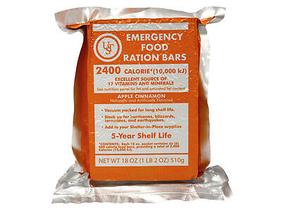 NEW - Ultimate Survival Technologies Emergency Food Ration Bars - 4 Pack
