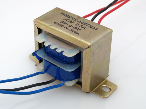 110/220VAC to 18VAC 500mA 0.5A Center Tap Power Transformer 9V-0-9V 18V AC 9Vx2