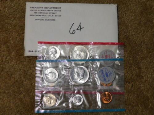 US 1964 P & D Silver Mint Set - 10 Coins