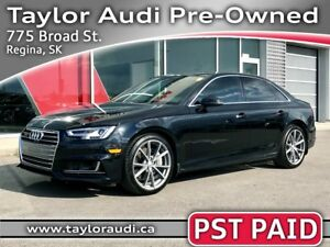 2017 Audi A4 2.0T Technik PST PAID, LOCAL TRADE, S LINE, DRIV...