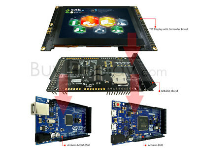 Arduino Shields 4.3 800x480 Tft Lcd Display For Mega Due Wlibraryssd1963