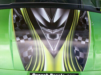 "Golf Cart 19"" BURNOUT HOOD & UNDER SEAT Stripes Graphics EZGO club Car Yamaha"