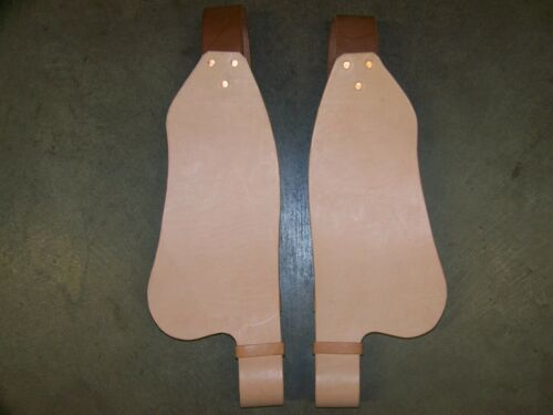 Saddle Replacement Fenders Complete w/Stirrup Leathers Adult Size Natural Color