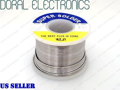 1.0mm 0.5 Lb 226g 6040 Rosin Core Flux Tin Lead Roll Soldering Solder Wire 12