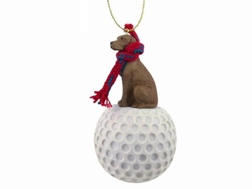 Vizsla Dog Golf Sports Figurine Ornament