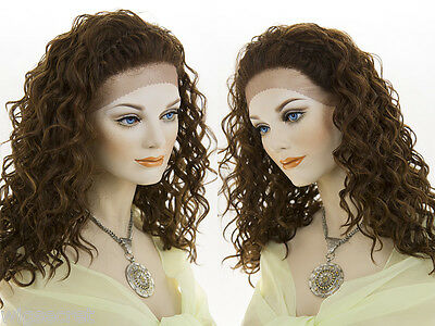Long Lace Front Wavy Curly Brunette Red Wigs Braids  (Curly Red Wigs)