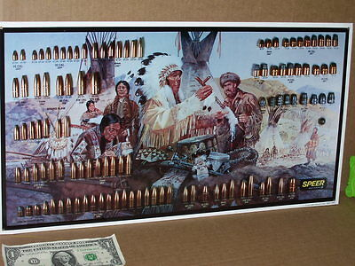 SPEER 109 Shells 3-D Chart / Sign - MOUNTAIN MAN Indian - OLD SIGN ...Dated 1992