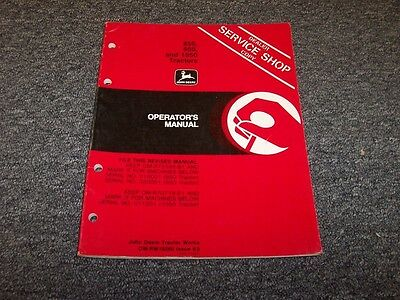 John Deere 850 950 1050 Tractor Owner Operator User Guide Manual Book Omrw19280