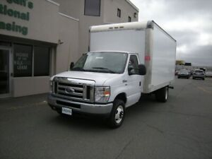 2018 Ford E-450 16' CUBE VAN WITH REAR LOADING RAMP - TEXT 902-2