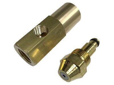Delavan 30609-1 0.10 Gph Waste Oil Siphon Nozzle With En17147 Brass Adapter