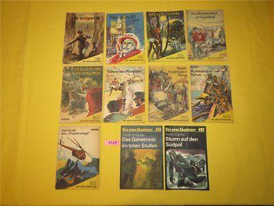 11 x Das neue Abenteuer 1957 - 87 Verlag Neues Leben Berlin Roman Heft DDR