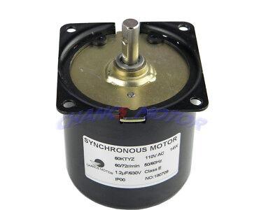 Small Electric Synchronous Motor 60ktyz Ac 110-130v 5060hz 14w 6072rpm Cwccw