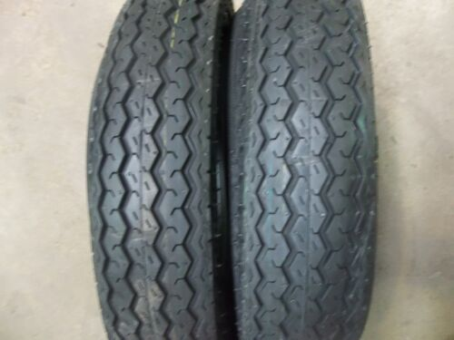 TWO 400x8,480x8, 480-8, 4.80x8 6 ply Tubeless Boat Trailer Tires Load Range C