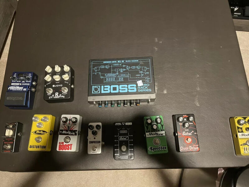Used Guitar Pedals And NEW Accessories Lot