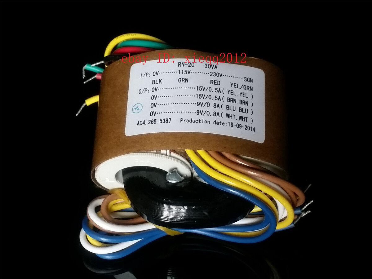 115V 30VA potencia nominal toroidal 2X15V voltajes primario 230 para Multicomp 30VA