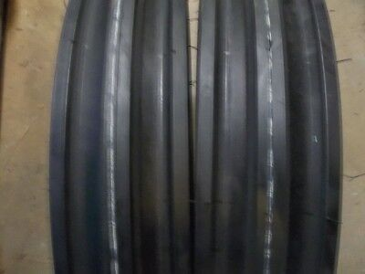 Two 400x12 400-12 4.00x12 4.00-12 Front 3 Rib Tractor Tires With Tubes