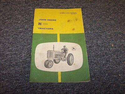John Deere Model H Tractor Owner Operator User Guide Manual Book Omr2011