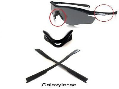 Galaxy Nose Pads + Ear Socks Rubber Kits For Oakley M2 Frame XL Sunglasses Black