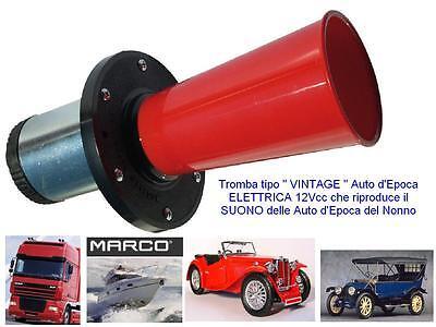 Trompeta Eléctrica 12V Estilo Vintage Sonido Coche Época Del Abuelo 100dB D.