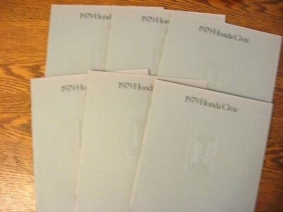 1979 Honda Civic Sales Brochure LOT (6) pcs Sedan Hatchback Wagon 1200