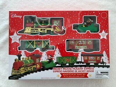 Christmas Disney Mickey Mouse Holiday Express 12-piece Train SetBRAND NEW!