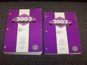 2003 Chevy Tracker Workshop Shop Service Repair Manual Set ZR2 LT 2.0L 2.5L V6
