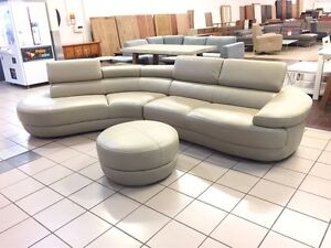 100% LEATHER LOUNGES - FACTORY SECOND, EX DISPLAY... Logan Central Logan Area Preview