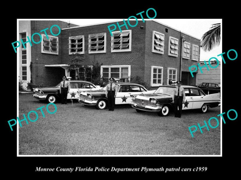 OLD 8x6 HISTORIC PHOTO OF MONROE COUTY FLORIDA THE POLICE DEPARTMENT c1959