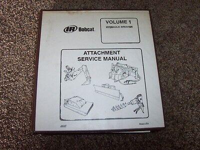 Bobcat Hydraulic Breaker Attachment Volume 1 Shop Service Repair Manual