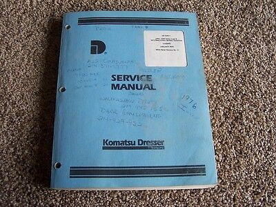 Komatsu Dresser 2400  2500 A B Wheel Tractor Chassis Factory Service Shop Manual