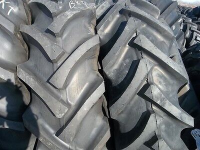 Two 16.9x3016.9-30 Ford-new Holland R 1 Bar Lug 8 Ply Tractor Tires