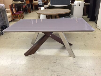 TITO DINING TABLE - GLASS TABLE TOP Logan Central Logan Area Preview