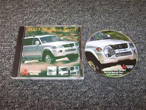2003 Mitsubishi Montero Sport Shop Service Repair Manual DVD XLS Limited 3.8L V6