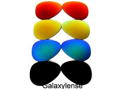 Galaxy Ersatzgläser für Ray Ban RB3025 Aviator Schwarz, Grün, Gold und Rot 58mm