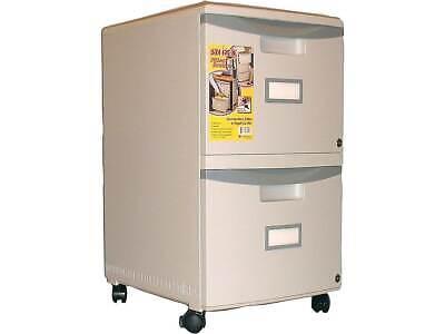 Storex 2-drawer Vertical File Cabinet Mobilepedestal Letterlegal 516769