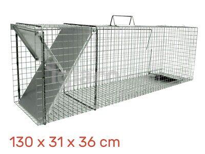 HUMANE LIVE CATCH TRAP - Fox Cat Racoon Beaver Badger Marten - 130 x 31 x 36cm