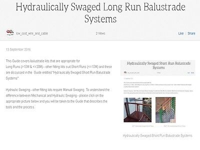 Hydraulically Swaged Long Run Balustrade Systems