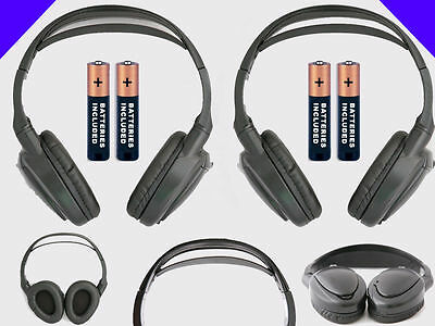 2 Wireless DVD Headsets for Cadillac Vehicles : New Headphones w/ Comfort Band