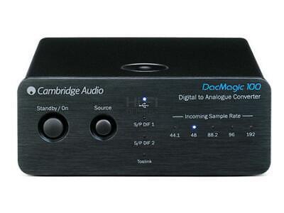 Cambridge Audio DACMagic 100 Digital to Analogue Converter RRP$399 Black